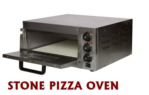 MAZORIA Metal Commercial Single Deck Stone Pizza Oven for Bakery and Fast Food Cafe (Silver)