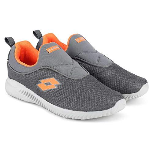 Lotto Amedio Men's Running Shoes (7, Black/Orange)