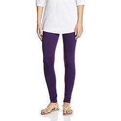 Myx Women's Cotton Stretch Leggings (AW16LEG01T_Deep Purple_Medium)