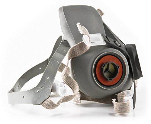 3M 3M-6200 Half Facepiece Reusable Respirator, Without Cartridges(Medium) 6