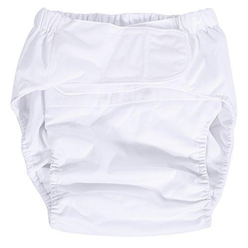 Pannolini per adulti - Nuovo pannolino per pannolini per pannolini per pannolini lavabili e regolabili per adulti, pantaloni per pannolini traspiranti (Color : White)