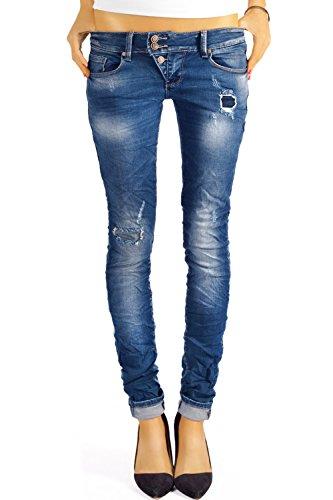bestyledberlin Damen Skinny Jeans Destroyed