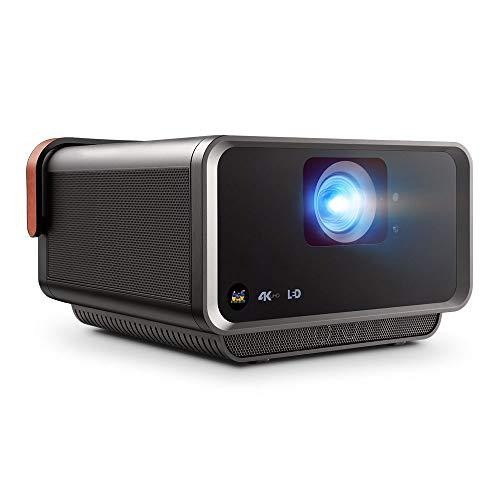 Viewsonic X10-4K UHD Heimkino LED Beamer (4K, 2.400 Lumen, Rec. 709, HDR, 2x HDMI, USB, USB-C, WLAN Konnektivität, 2x 8 Watt Lautsprecher, SD-Kartenleser) anthrazit-metallic