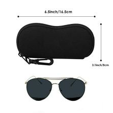 MoKo-Funda-de-Gafas-Ultra-Ligero-Neopreno-con-Cremallera-Almacenaje-Lente-Suave-Sunglasses-Case-con-Clip-de-Cinturn-para-Gafas-Bolsa-de-Llaves-Lpices-Tarjetas