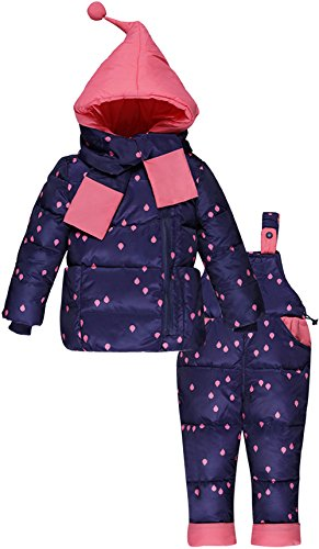 ZOEREA unisex bambino bambini di 3 pezzi snowsuit con cappuccio giubbotto imbottito fototecnica sci...