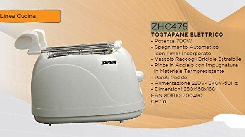 Zephir ZHC475 Tostapane 750W