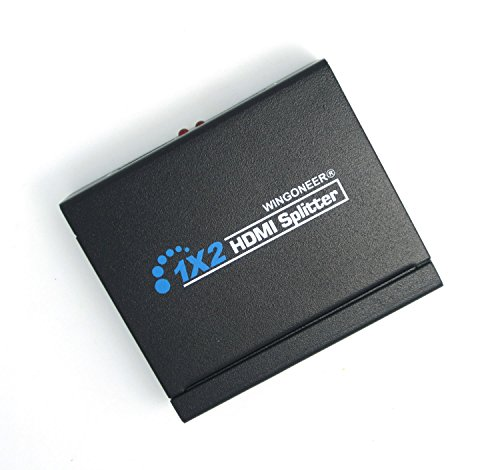 WINGONEER 4K HDMi Splitter 1X2 Ultra HD 2160P 4K x 2K HDMI Amplificatore Distributore Switcher 1 Entrata 2 Uscita FHD 1080P 3D per PS4 Xbox One Sky Box Blu-ray Lettore HD TV Proiettore