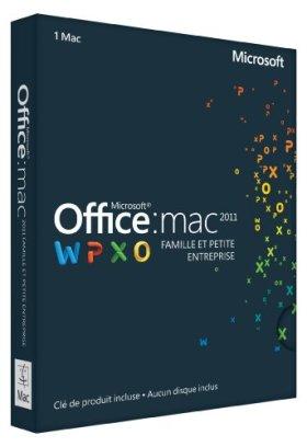 Office Mac Famille et Petite Entreprise 2011 - 1 Mac (carte d'activation)