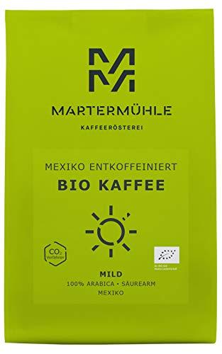 BIO Kaffee Mexiko Entkoffeiniert 500g Gemahlen - Bio Kaffeebohnen Von Der Martermühle: Kaffeebohnen Arabica aus Mexiko. Filterkaffee - Von Hand Geröstete Bohnen: Kaffee Gemahlen. Säurearm Und Mild.