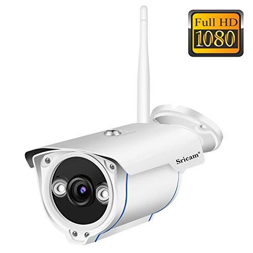 Sricam SP007 Telecamera di Videosorveglianza Wireless, Bianco, 16,5 x 7,2 x 8,3 cm