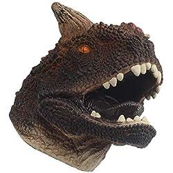 Hyack Marioneta de Mano de Dinosaurio para niños Suave de Goma Real Carnotaurus Papel