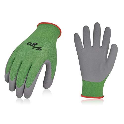 Vgo Glove Guanti, 2 paia, per bambini di 3-5 anni, guanti da lavoro per bambini con rivestimento in...