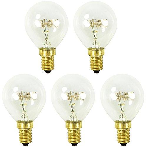 COM-FOUR 5x forno luminoso fino a 300 gradi, chiaro, lampadina da cucina 40W, E14, SES, P45, 230V,...