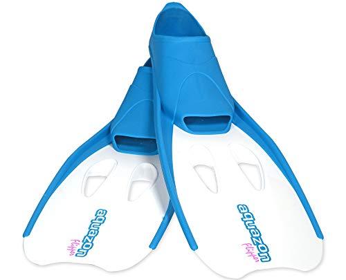 Aquazon Flossen, Schnorchelflossen, Schwimmflossen, Tauchflossen Flipper Für Kinder, Jugendliche Und Damen 36-37 Blau