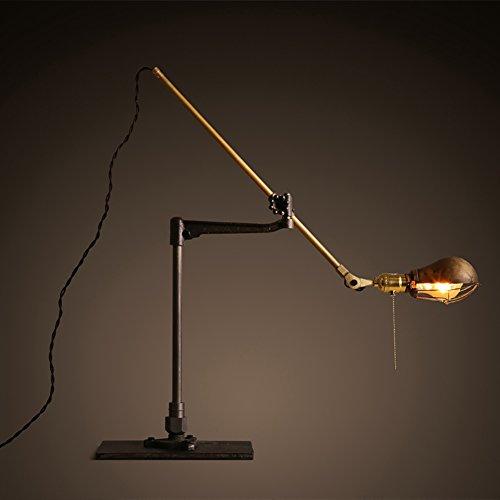 &la lampada da tavolo Retro Fold Table Lamp, telescopico in metallo ferro da stiro scrivania lampada...