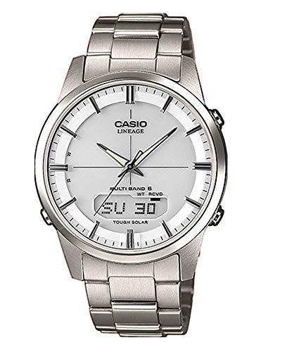 Casio Orologio Analogico-Digitale Quarzo Uomo con Cinturino in Titanio LCW-M170TD-7AER