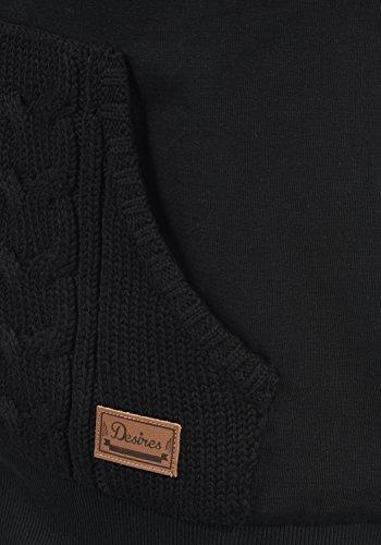 DESIRES Matilda Damen Sweatjacke Kapuzen-Jacke ZIp-Hoodie aus hochwertiger Baumwollmischung, Größe:M, Farbe:Black (9000) - 3