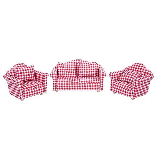 KEYREN Cuscino per Divano in Miniatura casa delle Bambole in Miniatura 1:12 Giocattolo per mobili in Miniatura per Accessori
