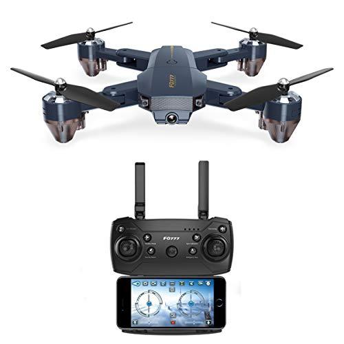 VBFFS Mini Drone con Telecamera HD WiFi FPV RC Quadricottero Pieghevole Elicottero,Sospensione Altitudine, Sensore gravità,modalità Senza Testa,Trasmissione Immagini,Adatto per Principianti