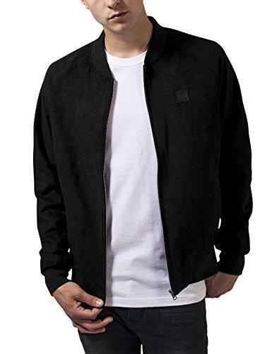 Urban Classics Imitation Suede Raglan Bomber Jacket Giacca, Nero (Black), XL Uomo