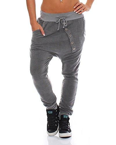 ZARMEXX-trendy-Damen-Sweatpants-Baggy-Boyfriend-Freizeithose-Jogginghose-Baumwolle-Sporthose-Loose-fit-Einheitsgre-Gr-36-40-hellgrau