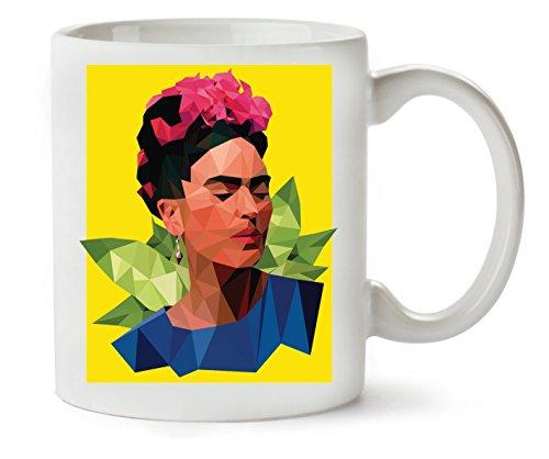 1GD Frida Kahlo Triangle Taza para Café Y Té
