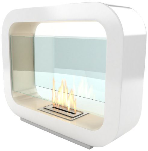 Imagin Bio ethanol Fireplace - Oblosk White