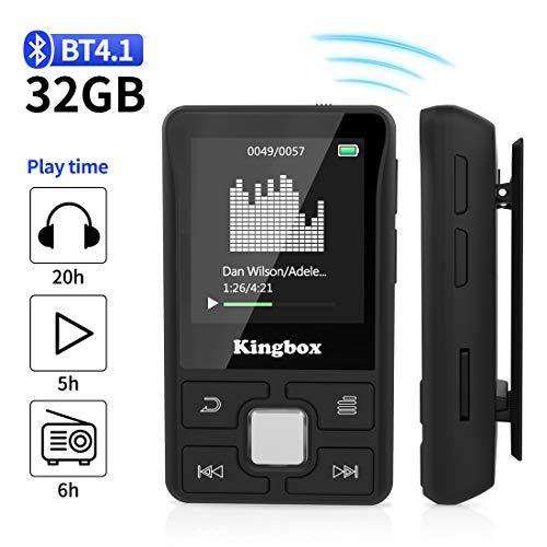 Lettore MP3 Bluetooth 32GB,MP3 player per Sport,Lossless HiFi Musicale con Radio FM Contapassi...