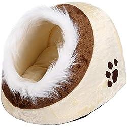 Yaheetech Casa de Gato Cama Cueva para Perros Mascotas 35 x 40 x 30 cm Suave Cueva