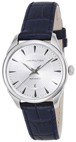 Hamilton Damen Analog Automatik Uhr mit Leder Armband H42215651