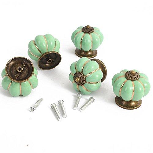 5 × 40 mm pomelli in Ceramica di Stile di Paese di Zucca Forma Pull Ceramica Maniglie Maniglie...