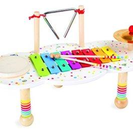 """10385 Tavolo musicale """"Sound"""" small foot in legno, con piccoli dettagli colorati, promuo"""
