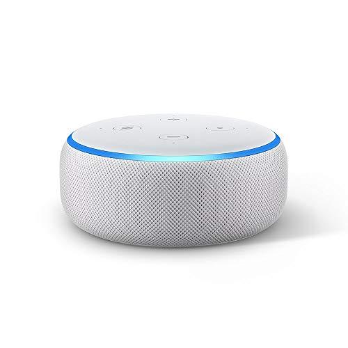 Nouvel Echo Dot (3ème génération), Enceinte connectée avec Alexa, Tissu sable