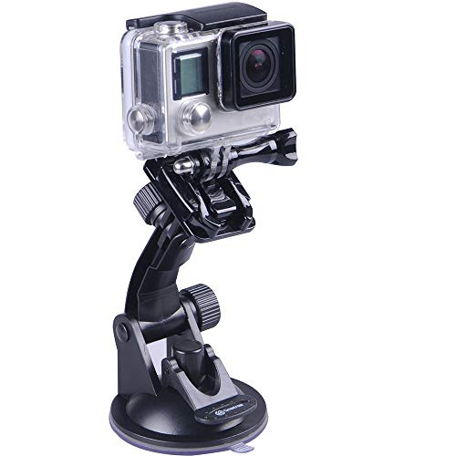 Smatree - Supporto a ventosa per GoPro Hero 7/6/5/4/3/2/1/Session/DJI OSMO Action
