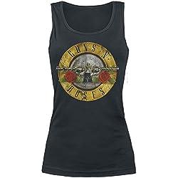 Guns N' Roses Distressed Bullet Top Mujer Negro L