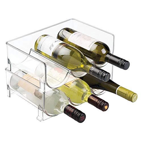 mDesign Set da 2 bottigliere – Portabottiglie accatastabile per borracce e bottiglie – Ideale...