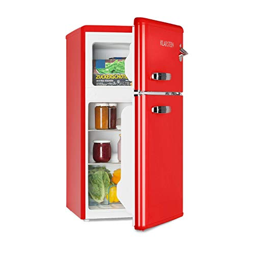 KLARSTEIN Irene • Combinazione Frigo-Congelatore • Frigorifero Retro • Scomparto Freezer 61 L...
