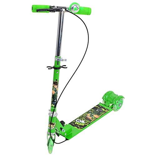 GLIVE (LABEL) Adjustable Folding Children Bike Scooter 3 Wheels Lighting Kids Outdoor Sport Exercise Toys Kick Scooter