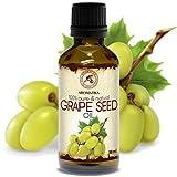 Aceite de Semillas de Uva 50ml - A Presión En Frío - Vitis Vinifera - Italia - 100% Puro y Natural...
