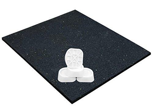 Tappetino e piedini antivibrazione per lavatrici o asciugatrice, antiscivolo universale 62x60x0,6...