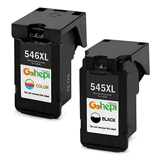 Gohepi Remanufactured Canon PG-545XL CL-546XL Cartucce d'Inchiostro Confezione 2 Nero/Tri-colore per...