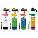 hydro2go  Kinder Trinkflasche aus Edelstahl - 350ml   Thermo Edelstahlflasche BPA-frei für Kinder + 2 Trinkverschlüsse   100% Auslaufsichere Kinderflasche   Strohhalm- und Sport-Verschluss