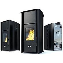 Caldaia a pellet stufa Eco Spar Hydro Auriga potenza 25 kW Superficie di riscaldamento 140m² Canna fumaria 80mm Bruciatore in ghisa Programmatore settimanale Riscaldamento centralizzato