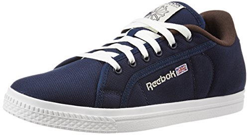 Reebok Men's Court Dark Blue, Brown and White Sneakers - 7 UK