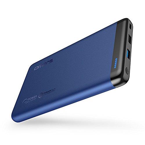 Omars 20000 mAh Batería Externa Banco de Energía con 45W USB C Carga de Energía PD, USB 3.0 QC Carga Rápida para iPhone X/8/8 Plus, Sumsung Galaxy S8/S7, Nintendo Switch y Más