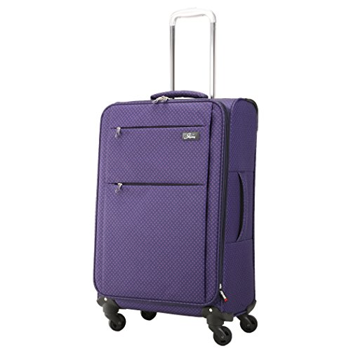 SKYWAY USA - Flair - Ultra Lightweight | Ergonomic Polyester | Spinner 4 Wheels | Expandable Upright Bag (Soft Sided Suitcase with TSA Lock) (Royal Paisley 20 Inch/51 cm)