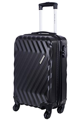 Nasher Miles Lombard Soft Side Cabin Luggage|Black 20 Inch /55CM Trolley Bag