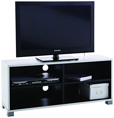 13Casa Simply d20 TV Stand. Dim. 101,2 * 29,4 * 43,5h cm. MDF. Bianco e Nero.