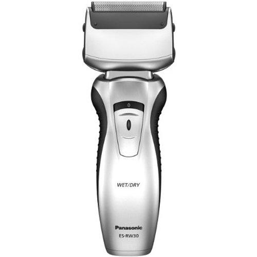 Panasonic ES-RW30 Máquina de afeitar de láminas Recortadora Negro, Plata - Afeitadora (Máquina de afeitar de láminas, Negro, Plata, Batería, 8 h, Inalámbrico)