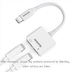 Kaufen 2 in 1 Lighting Kopfhörer Jack Adapter für Phone X, Phone 8/ 8 Plus.Phone 7 / 7 Plus 6/6 Plus . Lightnig auf AUX Audio Headphone Jack Adapter + Charging Port Kopfhörer Adaptor Splitte Kompatibel mit iOS 10.3/11 Oberhalb oder unterhalb iOS 10.3 system-(Weiße)
